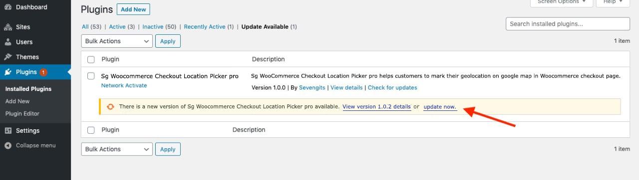 update location picker